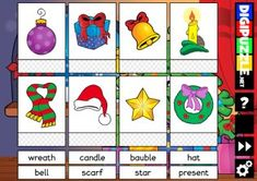 Word Cards Christmas Christmas Games, Educational Games, Fun Games, Cartoon, Holiday Decor, Words, Cool Games, Learning Games, Cartoons