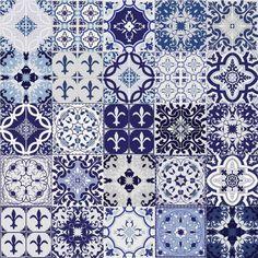 Ladrilho Adesivo Mix Azul 20x20 Haus for Fun