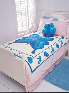 Butterfly Blanket | Yarn | Free Knitting Patterns | Crochet Patterns | Yarnspirations