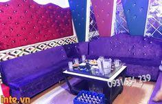 Hình ảnh phòng karaoke tân cổ điển màu tím-2