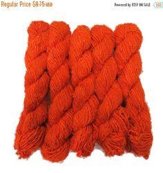 SALE New! Banana Silk Vegan Yarn, Orange
