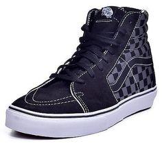 Vans Sk8 Hi Men's Checkered Board Pewter Hi Top Skateboard Shoes