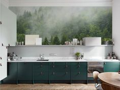 Misty Kitchen Contemporary Wall Murals Nature Pixers We Live To Change