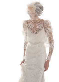 Pretty wedding dress with sleeves. I love sleeves, but not in the mormon-y way