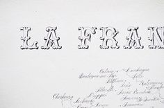 A hand written map La France   Calligraphy by Type and Graphics Lab