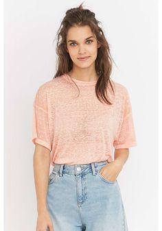 fbcabdabdf BDG Pink Girlfriend T-shirt Urban Outfitters