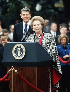 Margaret Thatcher e Ronald Reagan.