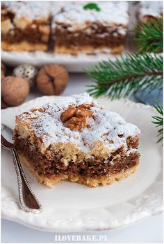 Polish Desserts, Polish Recipes, Cake Recipes, Dessert Recipes, Walnut Cake, Christmas Baking, Coffee Cake, Pavlova, Baked Goods