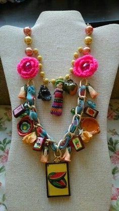Collar de cultura mexicana diseñado por Deseos Divinos Guadalajara 333 508 58 55