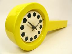 Ceramic Pop Art Clock, Italy, 1960's #Clock