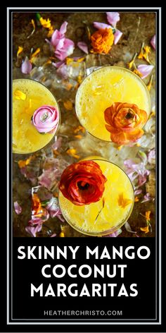 NO ADDED SUGAR!!!! these are naturally sweet! Happy Thirsty Thursday, Coconut Margarita, Mango Puree, Summer Cocktails, Non Alcoholic, Coconut Water, Clean Eating Recipes, Yummy Drinks, Cocktail Recipes