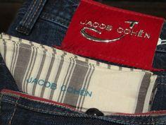 Jacob Cohën Limited Edition Jeans - Silver Plated Back Label #JacobCohen #TailoredJeans #Denim