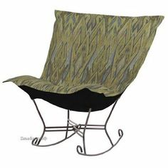 Amazon.com - Chicago Textile Puff Rocker-Ikat Willow - Rocking Chairs