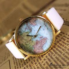 $3.49/pcs Big Sale 95%OFF World Map Watch Unisex Watches Mans wristwatches fashion watches Women Watches Boyfriend Gift The best Gift Watch SD005Buy Link: https://www.akisonshop.com/watch/world-map-watch-leather-wrist-watch-SD005.html