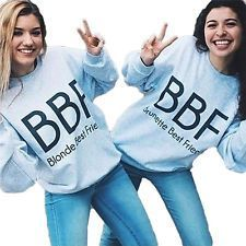 Women Hoodies Best Friend BBF BFF Print Girlfriends Sweatshirt Fashion Pullovers in Clothing, Shoes & Accessories, Women's Clothing, Sweats & Hoodies Best Friend T Shirts, Best Friend Letters, Bff Shirts, Best Friend Outfits, Best Friend Goals, Best Friend Clothes, Bff Clothes, Friends Shirts, Bff Goals
