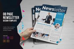 Newsletter Indesign Template by Miyaji75 on @creativemarket