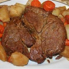 Easy Pressure Cooker Pot Roast.  I HIGHLY RECOMMEND  this recipe. Meat was tender, veggies were not pulverized! The broth was so tasty that after I skimmed off the oil we used it as a gravy.  I've never done that before with pressure cooker liquid. (Donna)