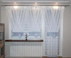 Informacje o FIRANKI KOMPLET PANEL 2 V-ki, Y-ek ŚLICZNE! NOWE!! - 5724387662 w archiwum allegro. Data zakończenia 2015-10-18 - cena 300 zł Diy Curtains, Window Curtains, Curtain Designs, Drapery, Entryway Decor, Window Treatments, Wood Projects, Windows, House