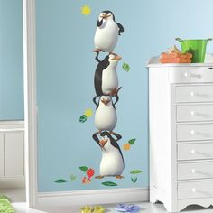 Popular Characters Penquins of Madagascar Giant Wall Decal