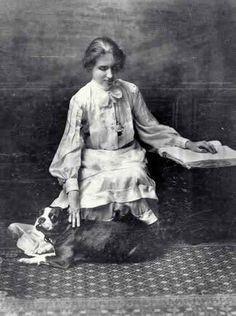 Helen Keller and Her Boston Terrier