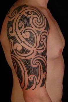 The Best Half Sleeve Cool Maori Tattoo Designs You Can Choose Giant Tattoos Maori Tattoos, Best 3d Tattoos, Maori Tattoo Designs, Tribal Sleeve Tattoos, Great Tattoos, Sexy Tattoos, Viking Tattoos, Tatoos, Design Tattoos