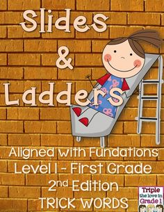 This great game is aligned with the trick words in the Fundations program - 1st grade - second edition.   There are 5 game boards to play Slides & Ladders - a fun game that keeps students excited about learning their trick words! The directions are printed at the top of each page along with the unit that the trick words are introduced in.