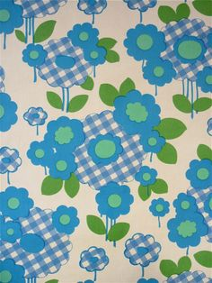 Vintage retro 70s flower power wallpaper wall art 1970s Scandi