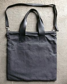 glass architect | waxed canvas and leather portfolio bag