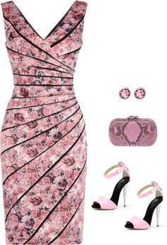 SevenRoses: Phase Eight, Elenor Print Dress, Multi Pink
