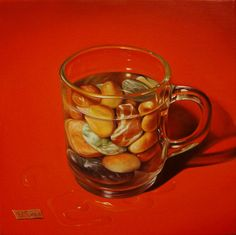 ,,Sea water on the rocks''-oil on by artist Florentin Vesa The Rock, Oil On Canvas, Rocks, Fine Art, Sea, Mugs, Tableware, Water, Artist