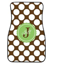 PERSONALIZED Car Mats DRESS up your car .. by Theperfecttouch4u