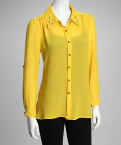 Take a look at this Banana Button-Up by Sienna Rose on #zulily today! $24.99