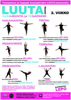 2. viikko juliste Teacher Stuff, Pilates, Wellness, Fitness, Sports, Poster, Peda, Sport, Posters