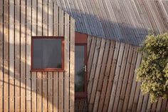 Three pointed star wine-hub with asymmetrical roofs mesh with vineyards and woods in Southern France. Project by h2o architects.  http://www.archipanic.com/architectural-wine-hub/