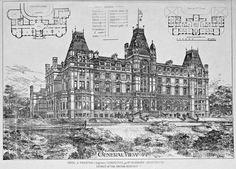 Hotel in Preston, England Architecture Mapping, Architecture Drawings, Architecture Plan, Beautiful Architecture, Architecture Details, Architecture Graphics, Neoclassical Architecture, Victorian Architecture, Historical Architecture