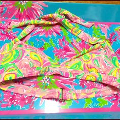 NWT Lilly Pulitzer All Nighter Bikini Top Brand NWT Bailor Lilly Pulitzer Bikini Top in All Nighter! Super Cute! I've seen a ton of the tops with ruffles in this print, but never in this style. Super cute! XS & S available! Lilly Pulitzer Swim Bikinis