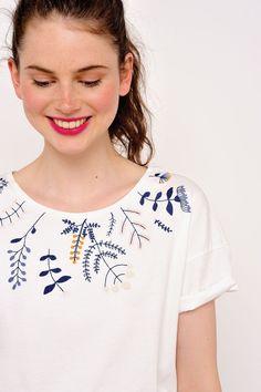 Tee shirt ilanita ecru -  100% coton - des petits hauts 3