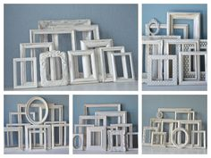 White Picture Frames  Custom Set of Ten Wedding by TheArtofChic