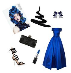 """""""blue moon"""" by melziggy-mb on Polyvore featuring Gianvito Rossi, Fantasia, Alexander McQueen and MAC Cosmetics"""