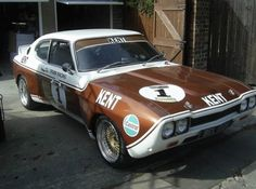 Ford Capri Mk1 Wide Body Flared Race Car Turbo / Brown & White