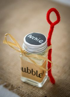 Kids Favours Bubbles Colourful DIY Village Fete Wedding http://jamesgristphotography.co.uk/blog/