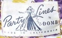 Emma Domb label from a late 1940s gown - Courtesy of hatfeathers.com