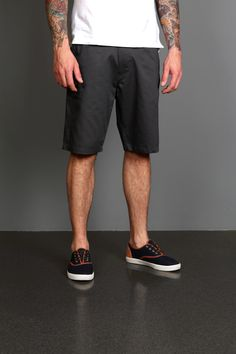 Marshall Artist Classic Tailored Slim Leg Short Navy