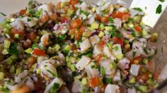 Tilapia ceviche, looks like some of the great ceviche recipes I have tried at restaurants
