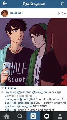 PJO Instagram posts 2/? - Leo. Goes with the Dance Academy!AU.