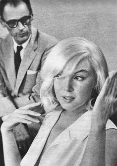Marilyn Monroe and Arthur Miller photographed during the production of The Misfits, 1960.