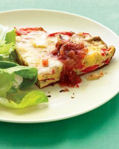 If you like eggs, make this frittata with salsa.  Yum!