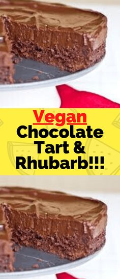 You won't miss the dairy in this rich, decadent tart, which is beautifully offset by tangy rhubarb…  Ingredients 150 ml soya milk 4 cardamom pods 4 tablespoons sugar 1 tablespoon cornflour 250 g dark vegan chocolate (70%) 1 teaspoon vanilla extract PASTRY     250 g plain flour 125 g icing sugar 1 teaspoon ground ginger 125 g soy margarine (cold), plus extra for greasing Best Vegan Recipes, Snack Recipes, How To Make Taco, Recipe Cover, Veggie Dishes, Large Bowl, Vegan Breakfast, Vegan Chocolate, Tart
