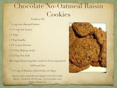 Chocolate No-Oatmeal Raisin Cookies - Paleo