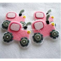 Tractor Felt Applique feltie felties handmade felty